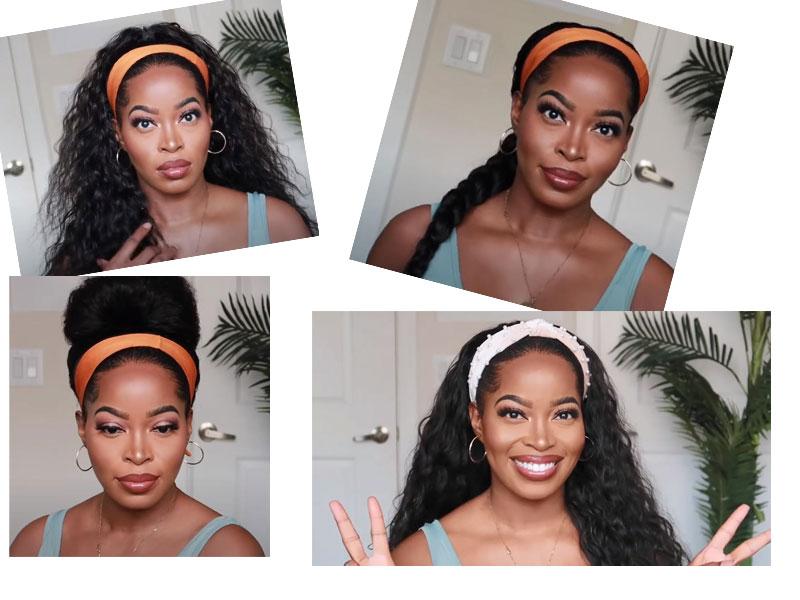 various style headband wigs