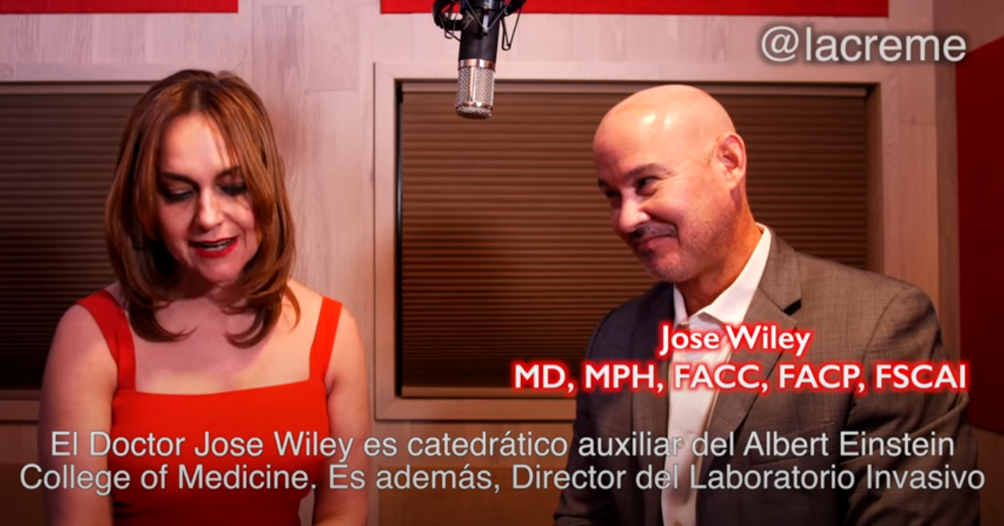Patricia Pinto with Dr Jose Wiley at La Creme Angels Inc video