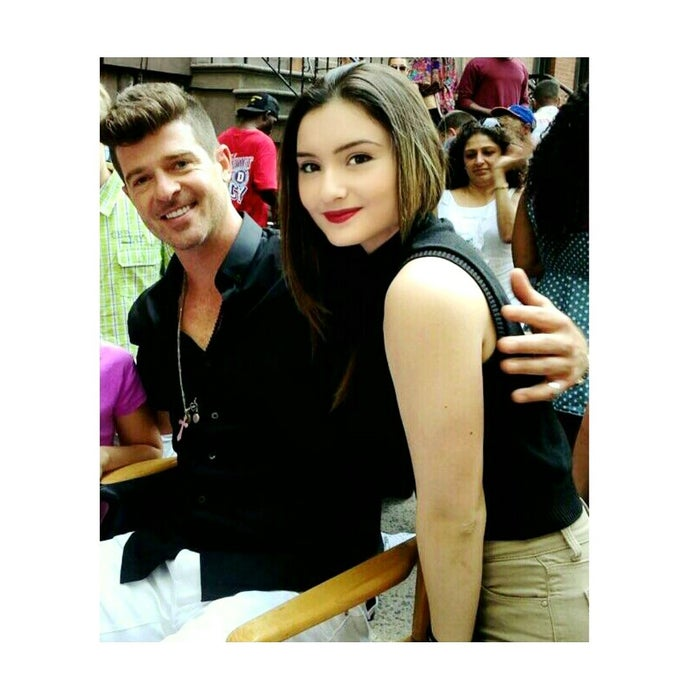 Robin Thicke with a La Creme Model  La Creme Modeling  Acting