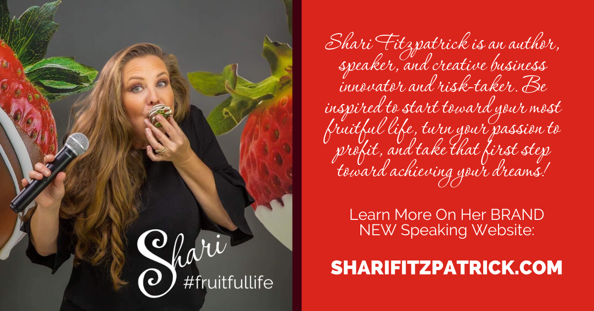 Professional Speaker Shari Fitzpatrick takes the stage to inspire audiences