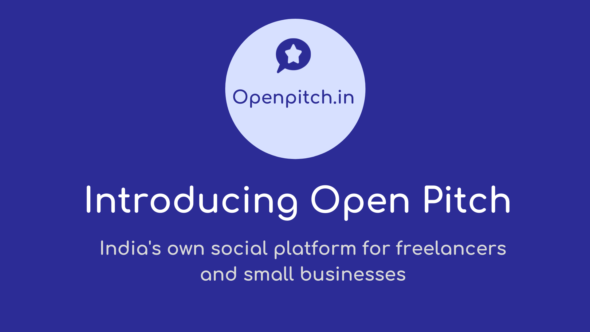 Introducing Open Pitch