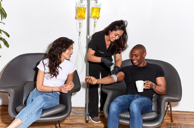 Family receives intravenous therapy in Los Angeles
