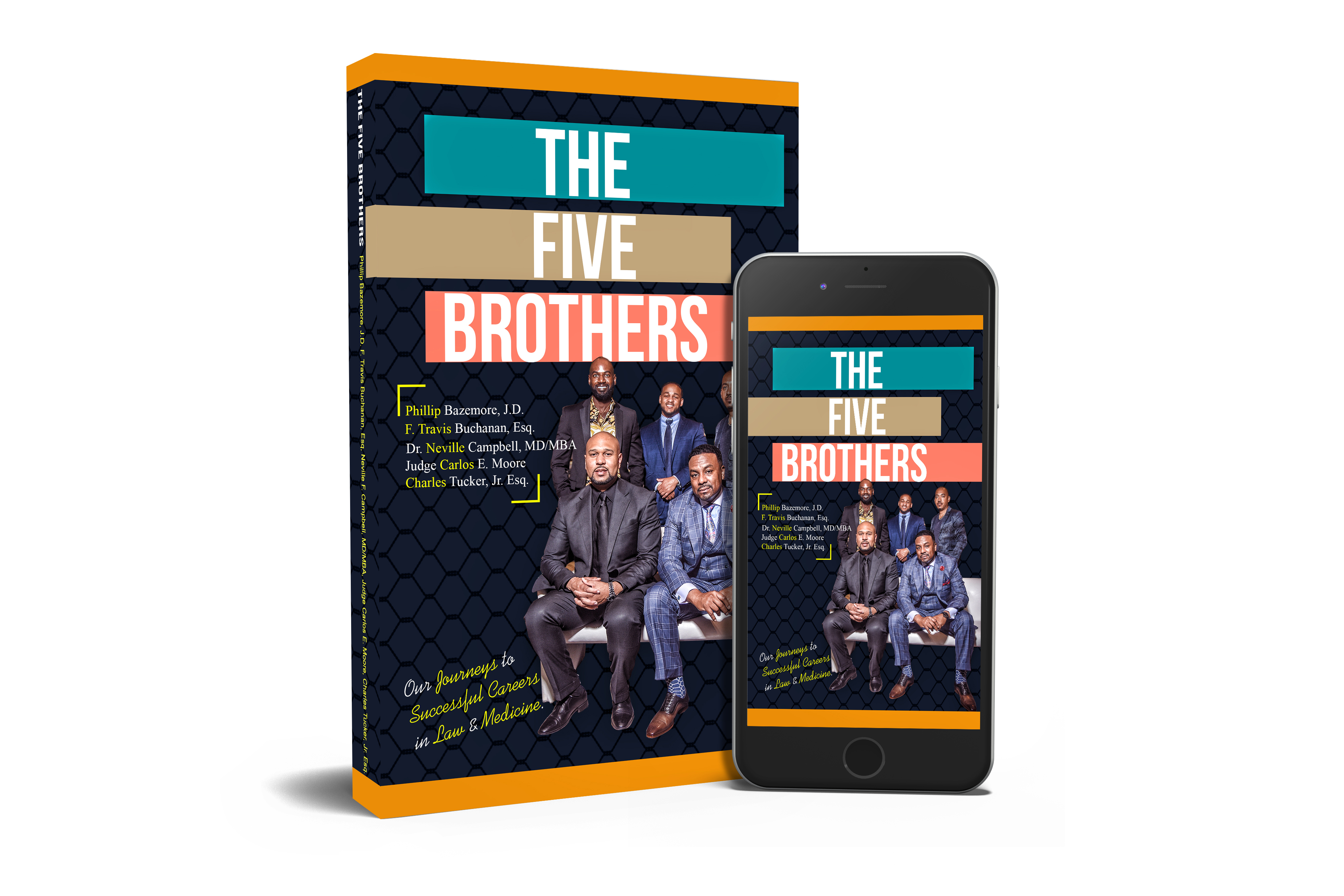 The Five Brothers Paperback and iPhone Book Cover Graphic