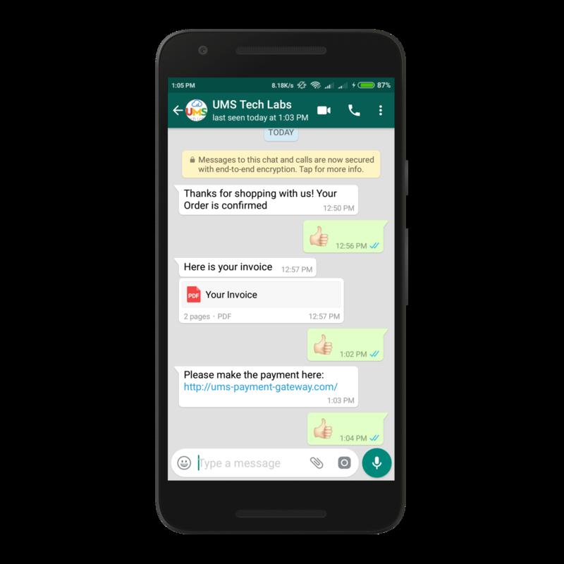 UMS Tech labs: WhatsApp API Integration & WhatsApp Chat Bot? - IssueWire