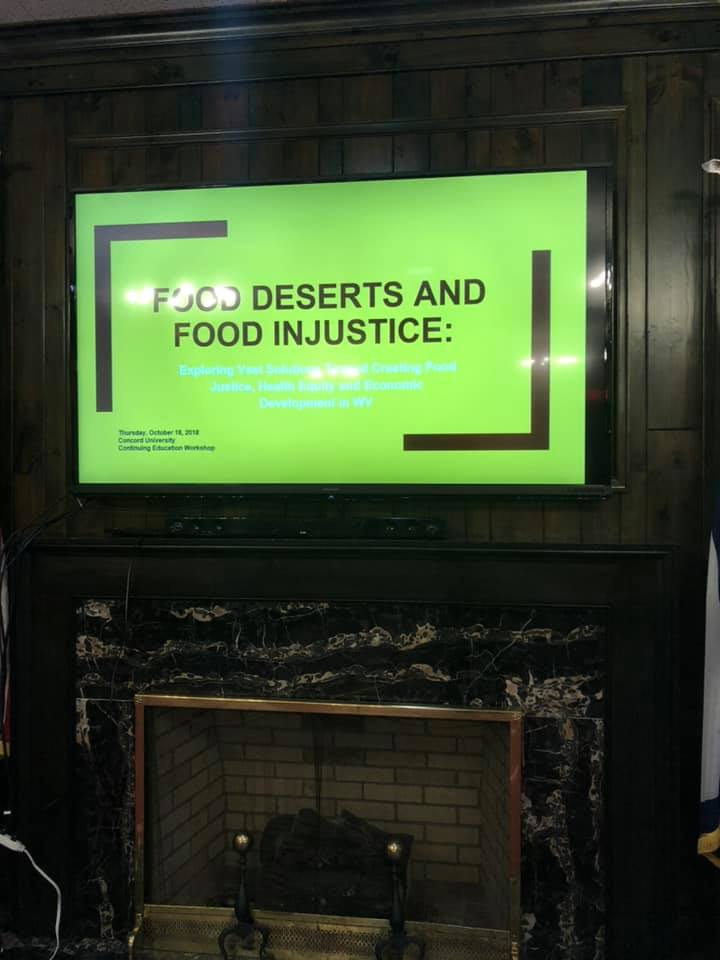EDGE presentation on Food Deserts at Concord University 2019