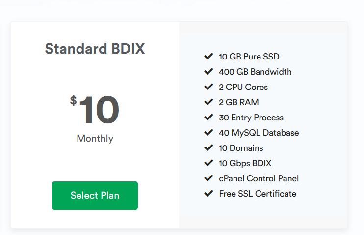 Standard BDIX