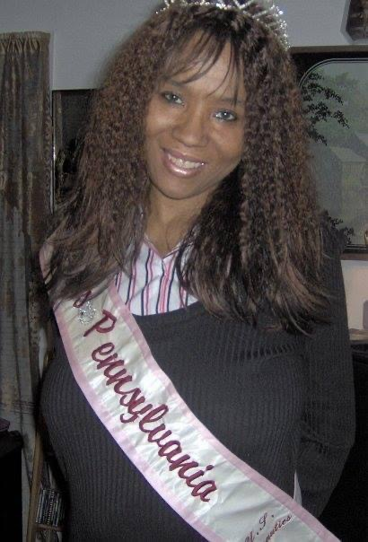 Maria wearing her official Ms Pennsylvania 2004 sash and crown