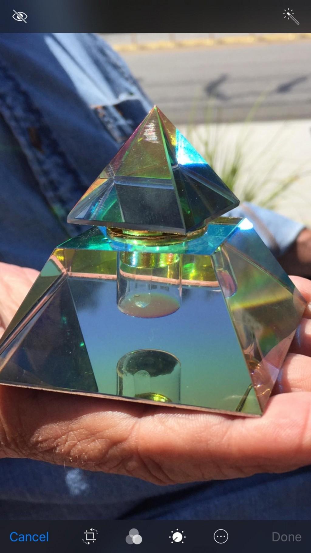 TPJ Perfume  Pyramid Bottle