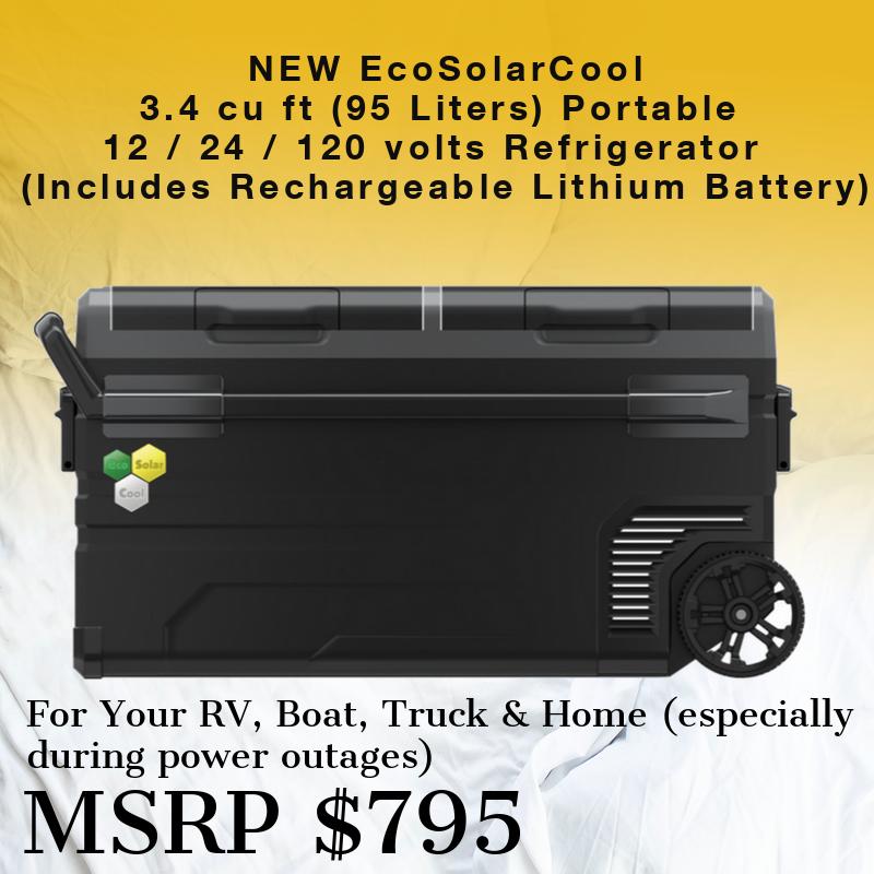 Portable Solar Refrigerator ESCR1PRX by EcoSolarCool