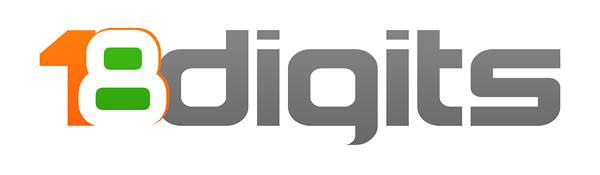 18Digits Logo Design White Small JPG