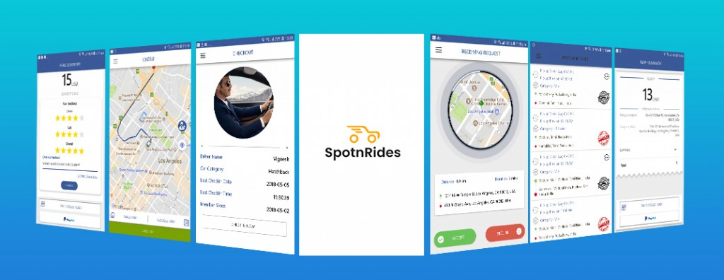 SpotnRides Product Screenshots