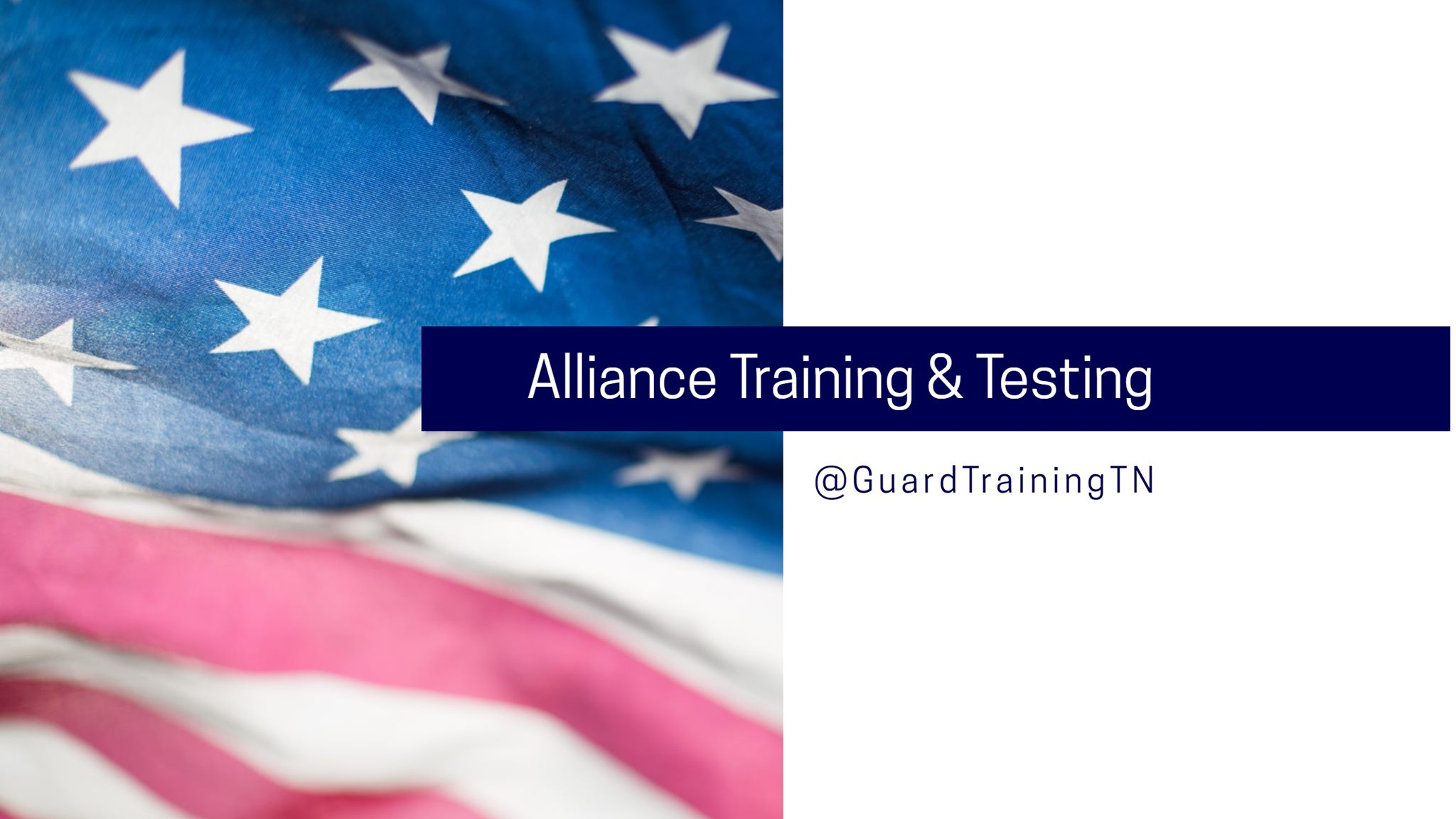 Alliance Training and Testing