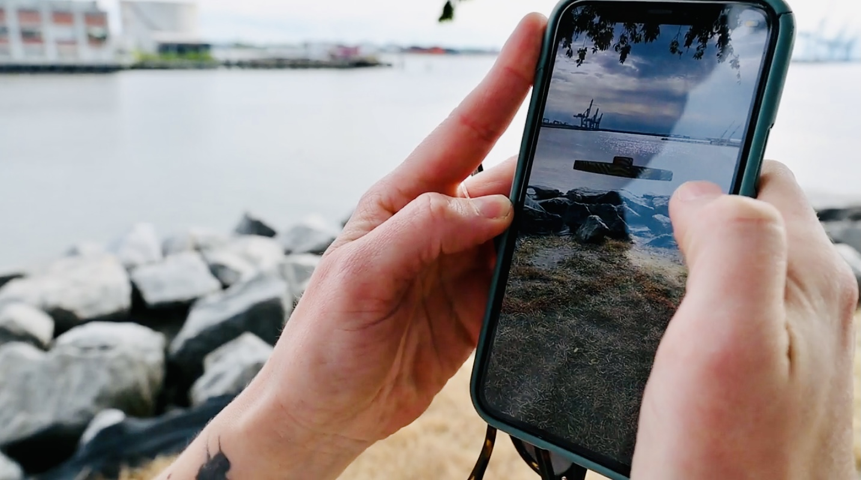 AR phone shot
