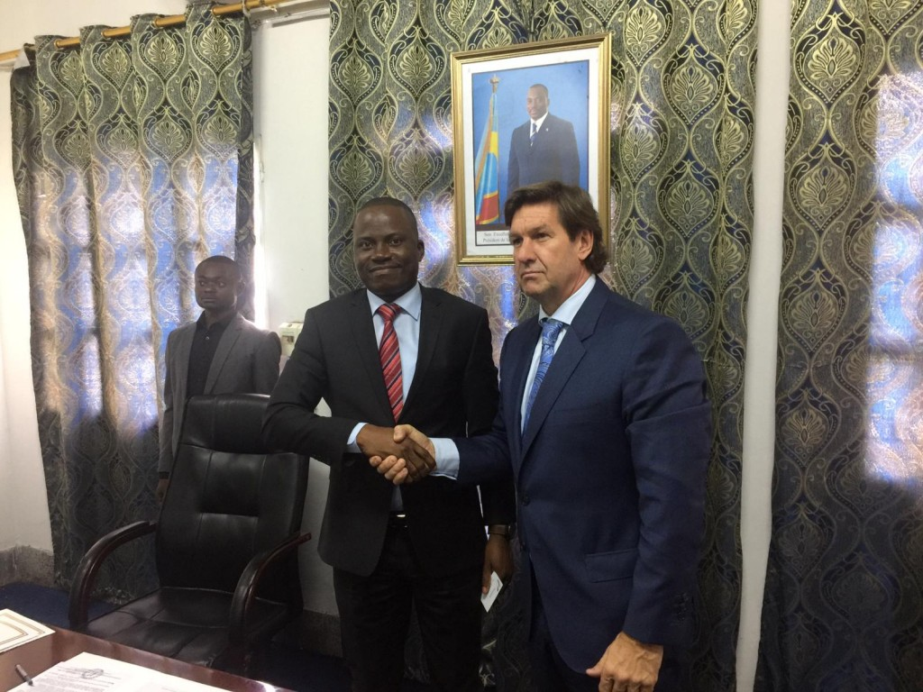 CEO of Instadose Pharma Grant Sanders Meeting with the Vice Minister of Agriculture of The Democratic Republic of the Congo DRC