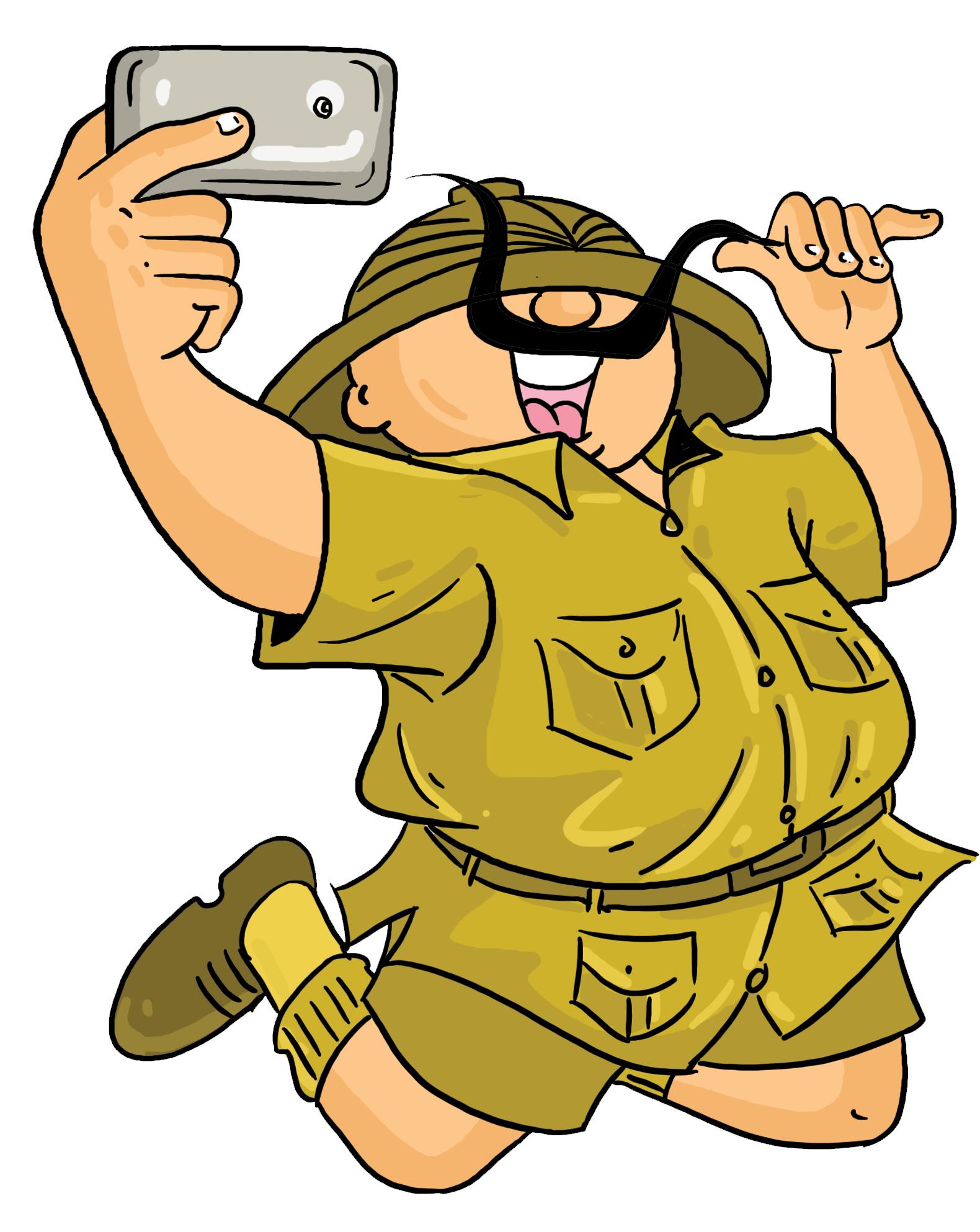 Shambu takes a selfie