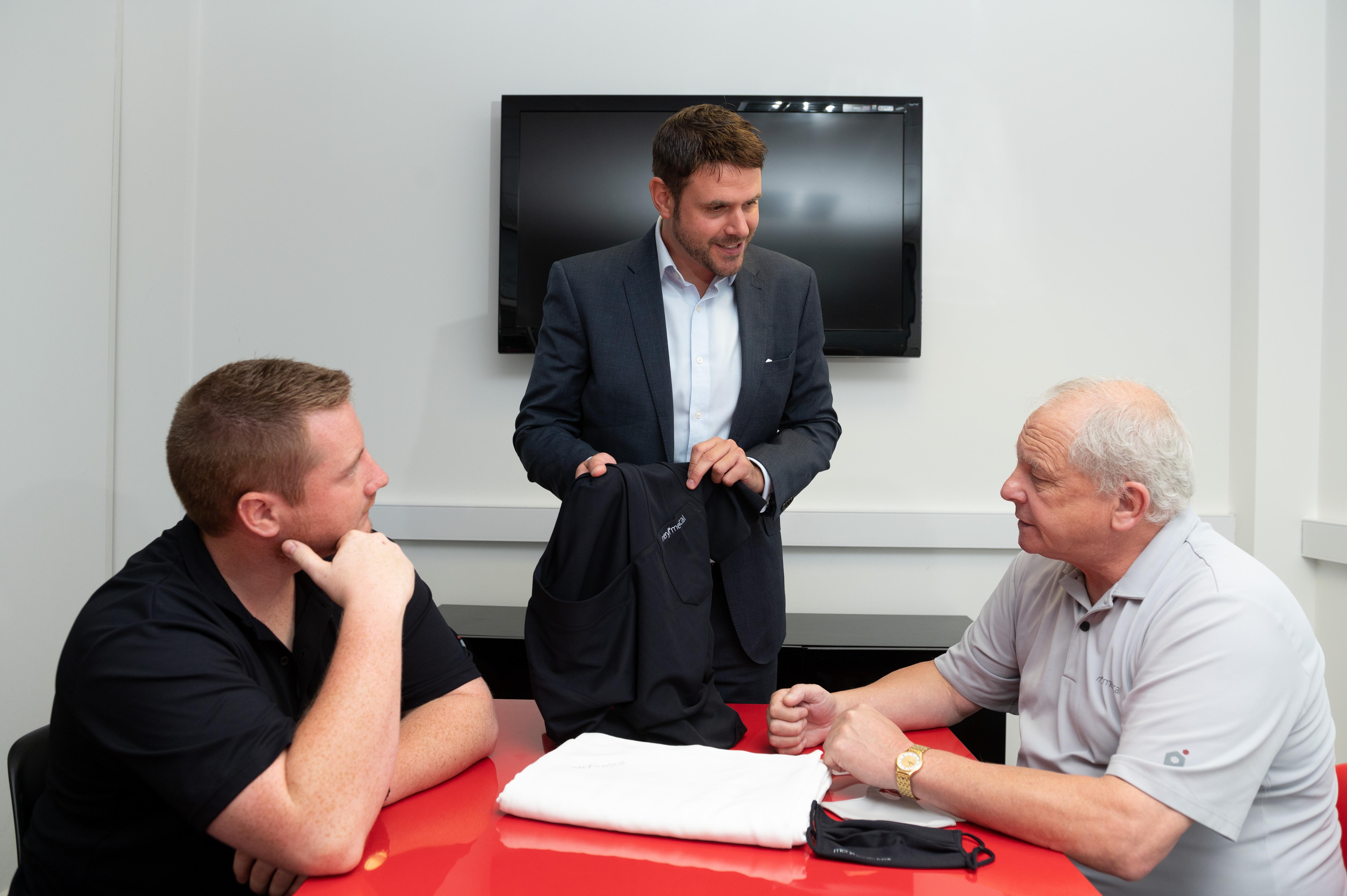Meryl Medical Directors left to right Grant Clodd Broom Kevin Simpson and Peter Clodd Broom