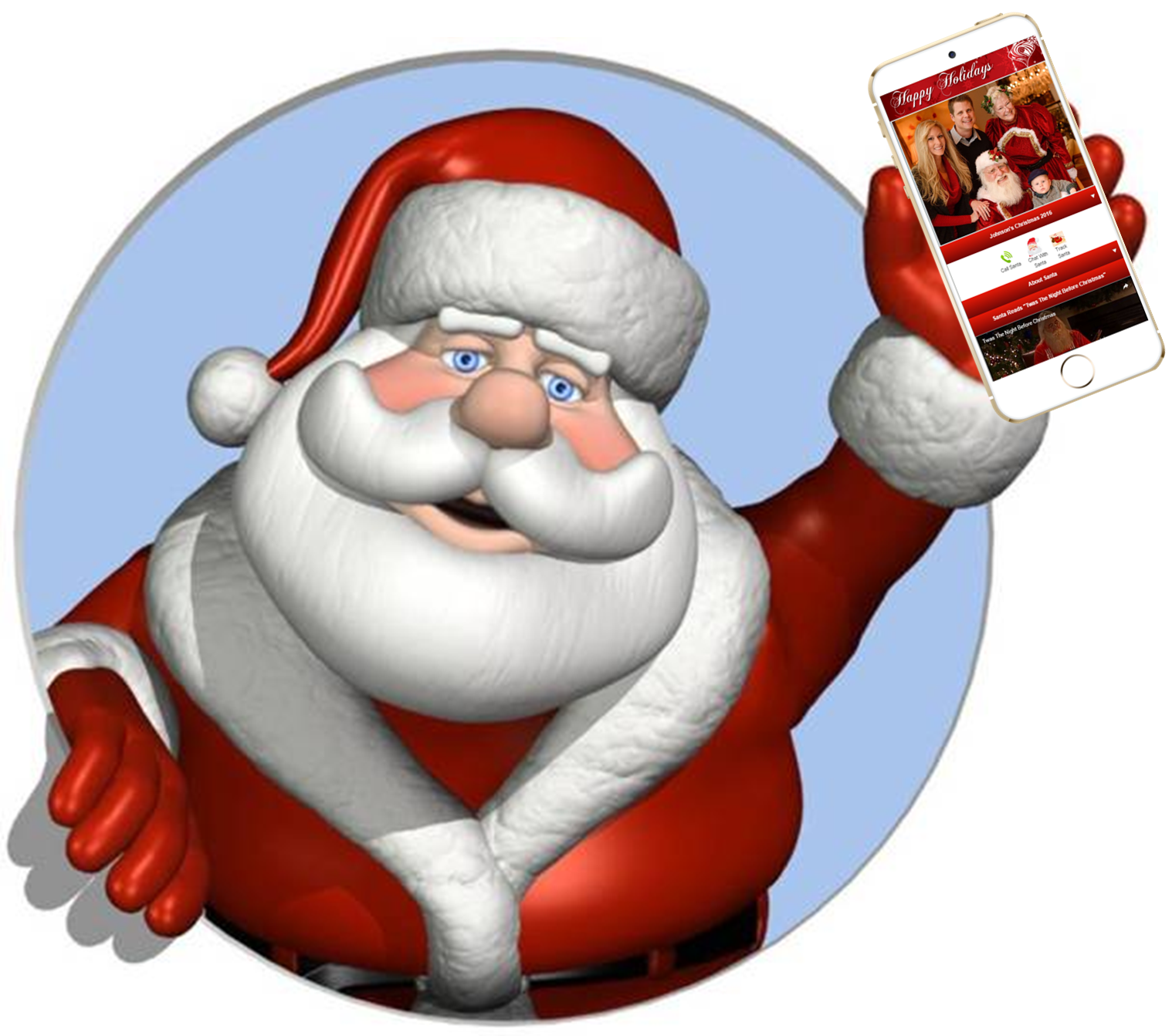 The Santa Photo App by Platinum Edge Media