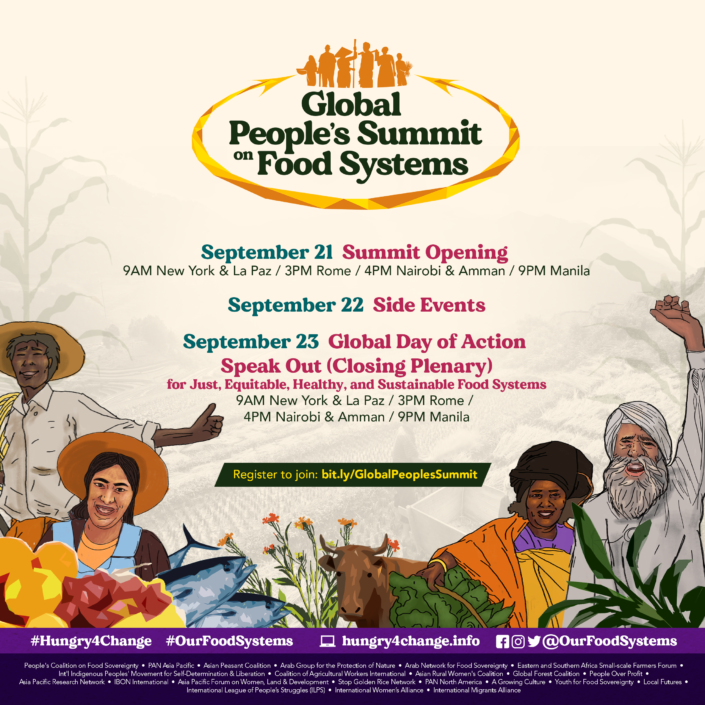 Global Peoples Summit Food Systems official poster