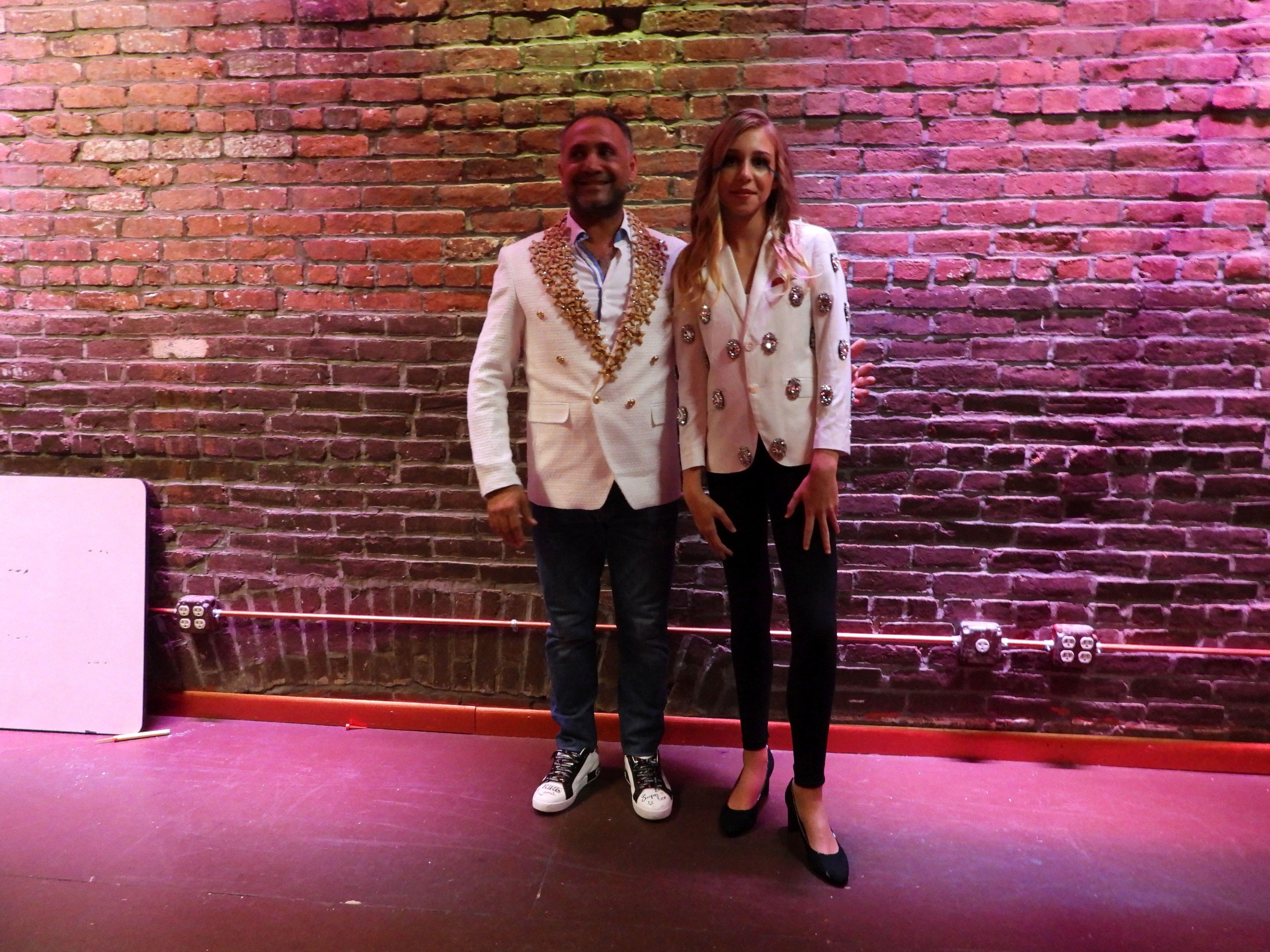 Abigail Copcutt with Designer Elie Balleh  Designer Elie Baleh NYFW Show
