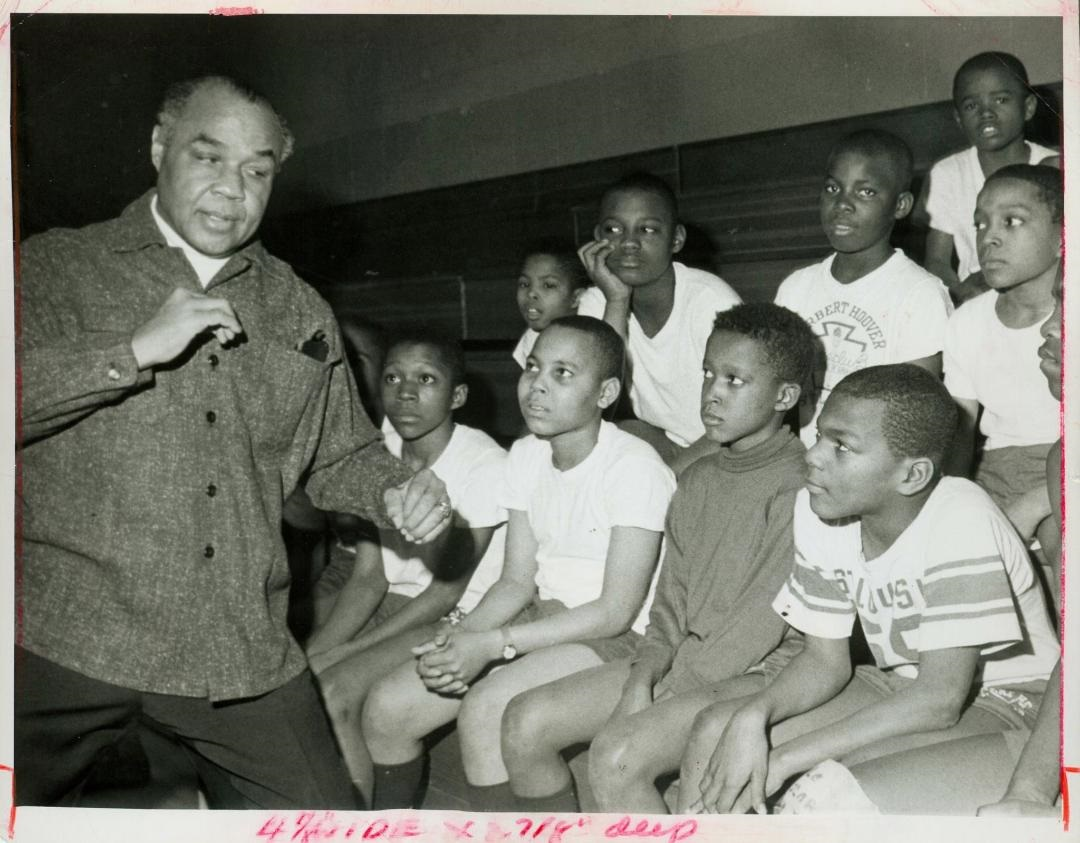 Boxing Legend Henry Armstrong with the youth