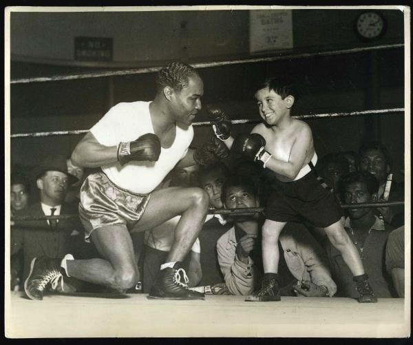 Boxing Legend Henry Armstrong with young actor
