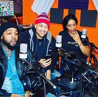 K B and BADD at the Pozew Radioshow