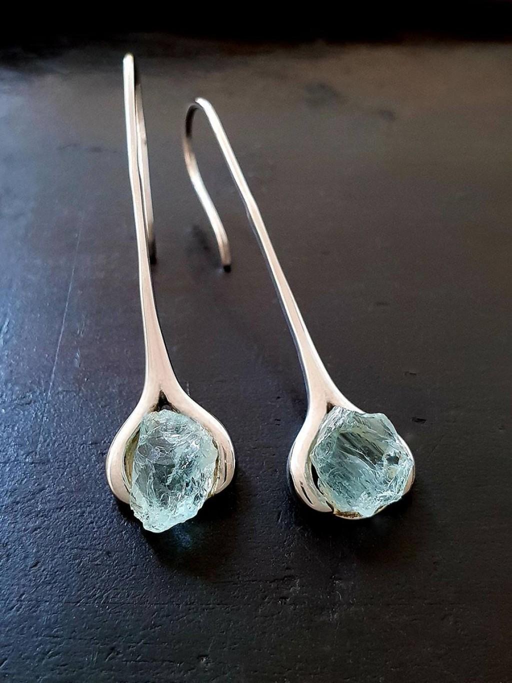 Aquamarine Long Earring