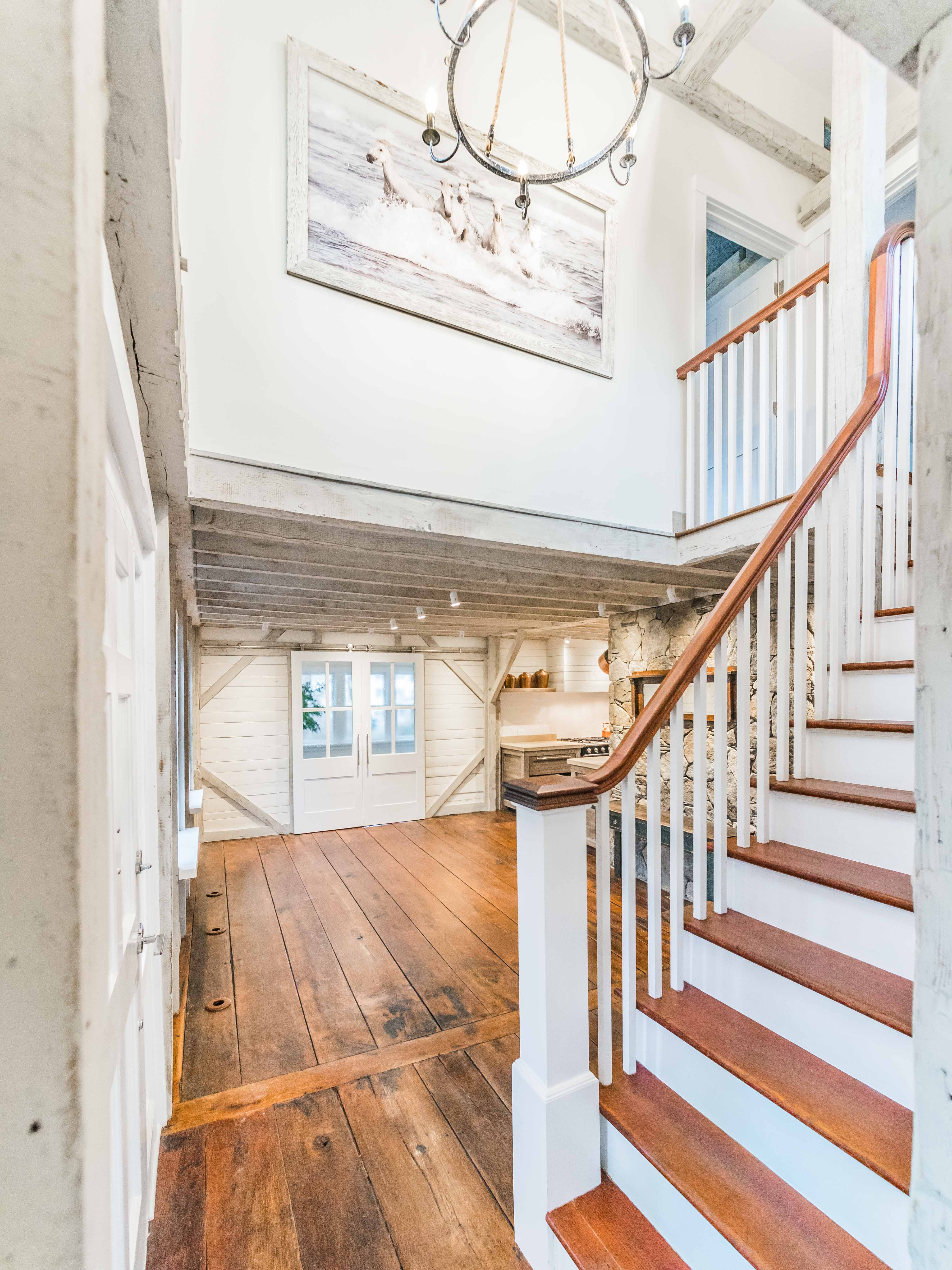 The All New 1812 Modern Farmhouse Restored Stairs