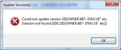 error message version not found
