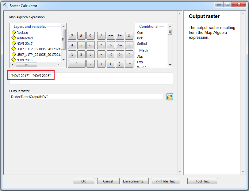 How To: Detect and quantify temporal changes using the Raster Calculator