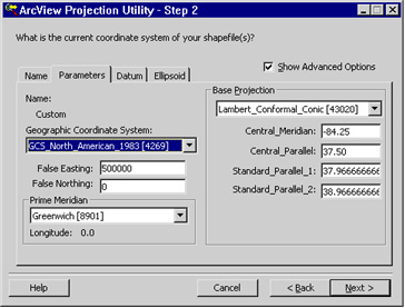 [O-Image] Projection Utility - Step 2b dialog box