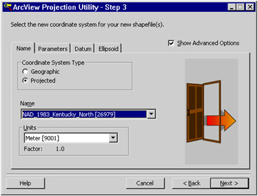 [O-Image] Projection Utility - Step 3 dialog box