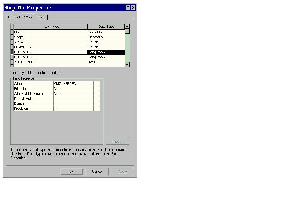 [O-Image] Select field in ArcCatalog properties dialog box