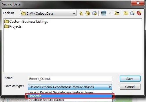 Image of the Saving Data dialog window