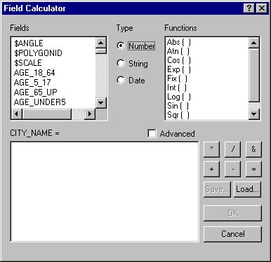 [O-Image] [O] ArcMap Field Calculator image
