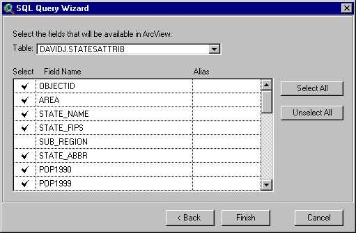 [O-Image] SQL Query Wizard - last step