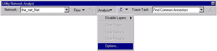 [O-Image] Image Utility Network Analyst toolbar Analysis menu