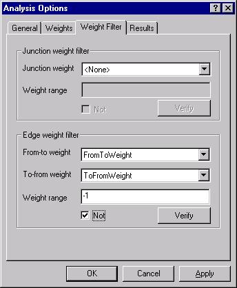 [O-Image] Network Analysis options Weight filter dialog box