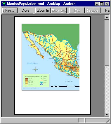 [O-Image] ArcMap print preview (ex. of bad page setup)