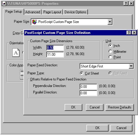 [O-Image] Setting custom printer page size in ArcMap