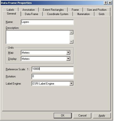 [O-Image] Data Frame Properties Tab (General)