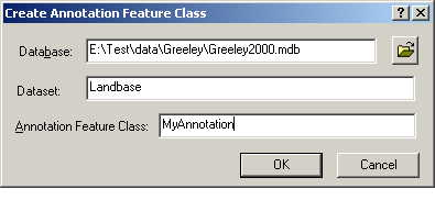 [O-Image] Create Annotation Feature Class dialog