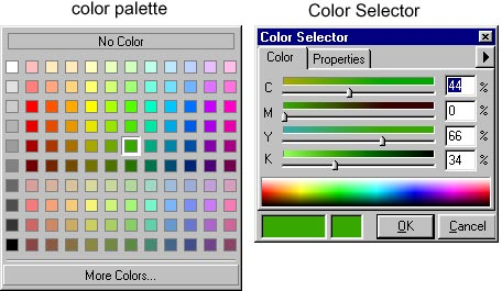 [O-Image] color palette and Color Selector