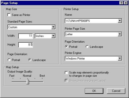 [O-Image] ArcMap page setup (ex. of bad page setup)