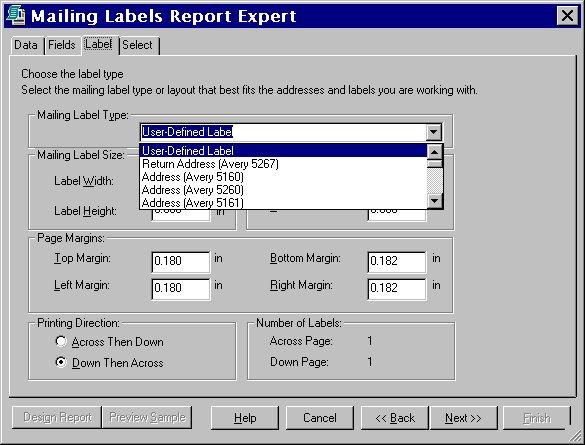 [O-Image] Mailing Label Type