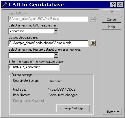 [O-Image] CAD to Geodatabase