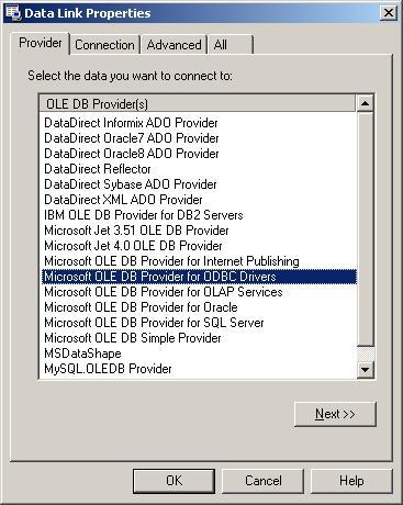 [O-Image] DataLink Properties - Provider tab
