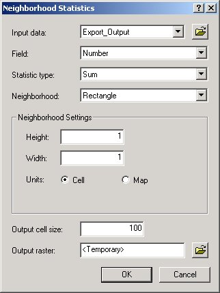 [O-Image] 8.x neighborhood Statistics window