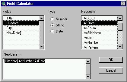 [O-Image] isodatetime field calculator new date