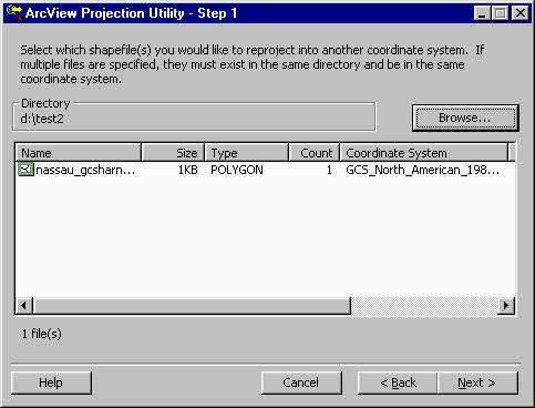 [O-Image] GCS HARN to FL_East NAD83 step1